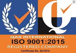 QAS International ISO 9001:2015 Registered Company